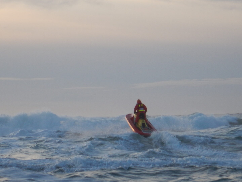 RescueRunner in action in high seas.