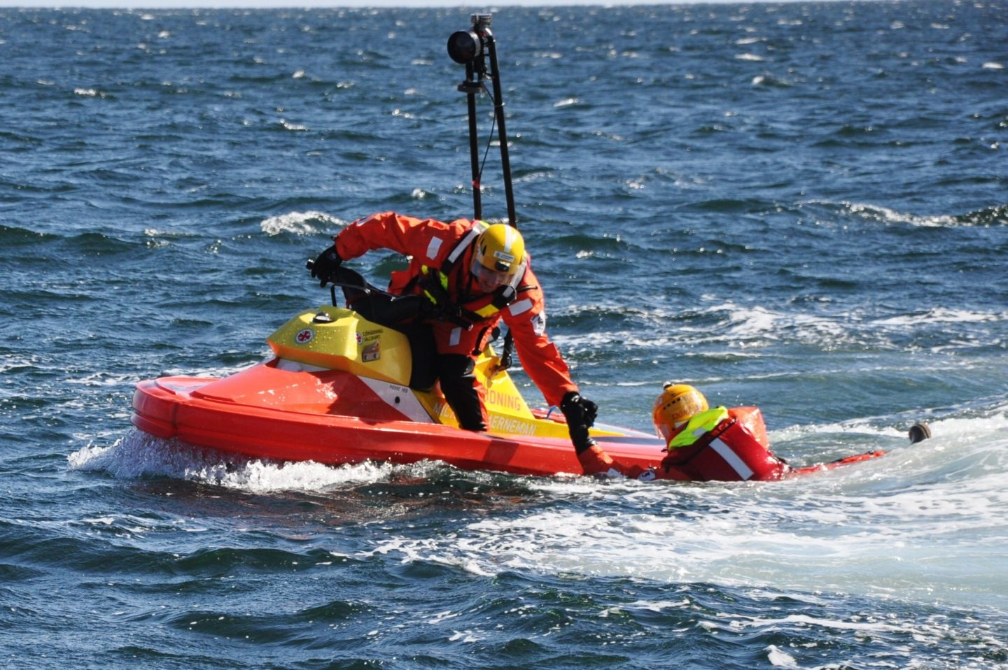 Swedish Sea Rescue Society rescuing Casualty in distress.
