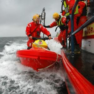 Crew Exchange on RescueRunner