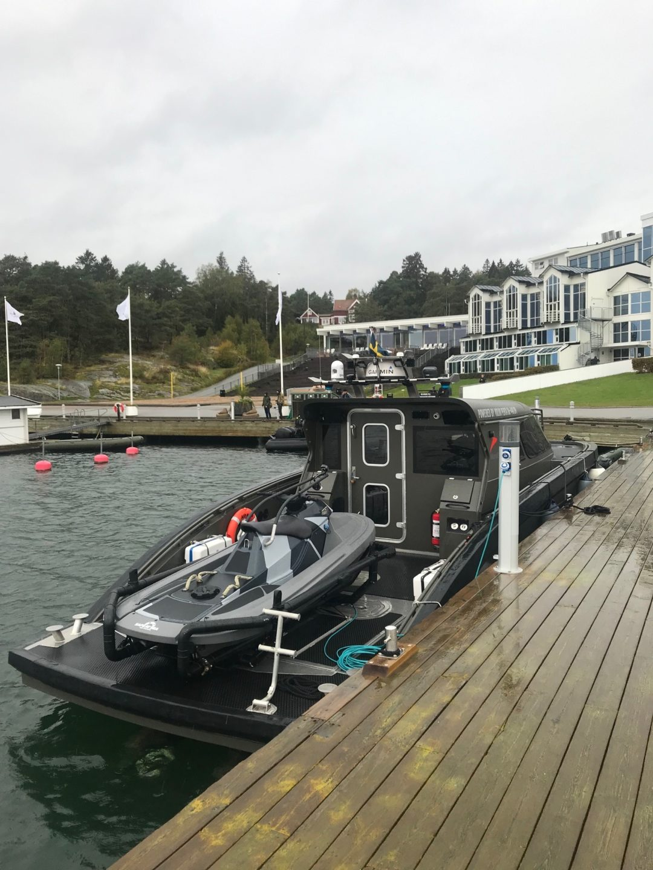 GuardRunner on combat boat Marell M15.