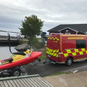 Västervik Fire Rescue launching their RescueRunner