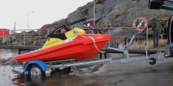 Rescuerunner on trailer