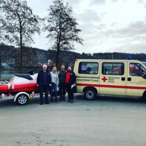 German Red Cross Wasserwacht collecting their new RescueRunner system.