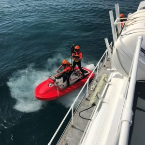 Testing RescueRunner, launch from boat