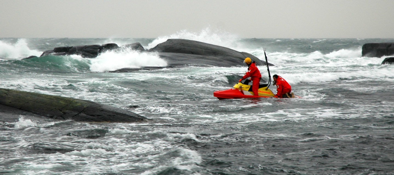 Swedish Sea Rescue Society RescueRunner on a SAR mission